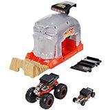 Игровой набор Hot Wheels Monster Trucks Пусковой гараж Бон Шейкер
