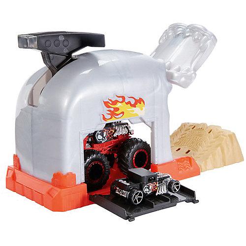 Игровой набор Hot Wheels Monster Trucks Пусковой гараж Бон Шейкер от Mattel