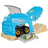 Игровой набор Hot Wheels Monster Trucks Пусковой гараж Шарк Рик
