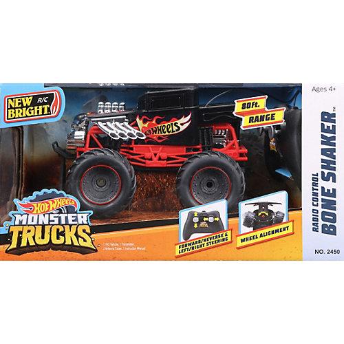 Радиоуправляемая машинка New Bright Monster Truck 1:24, черная от New Bright