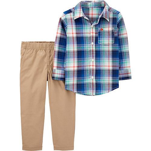 Комплект Carters: рубашка и брюки - синий от carter`s