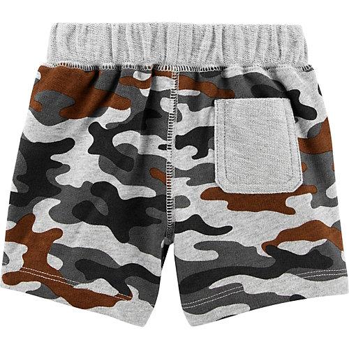 Комплект Carters: футболка, боди и шорты - серый от carter`s