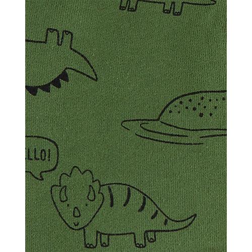 Комплект Carters: толстовка, боди и брюки - зеленый от carter`s