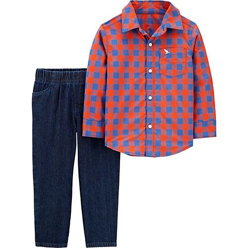 Комплект Carters: рубашка и джинсы - красный от carter`s
