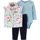 Комплект Carters: жилет, боди и брюки