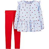 Комплект Carters: блузка и леггинсы