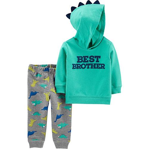 Комплект Carters: худи и брюки - бирюзовый от carter`s