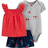 Комплект Carters: топ, боди и юбка