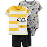 Комплект Carters: футболка, боди и шорты