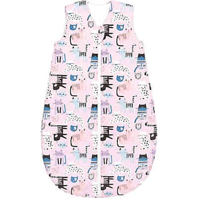 Basic Sommer-Schlafsack, cats pretty pink, Gr. 70