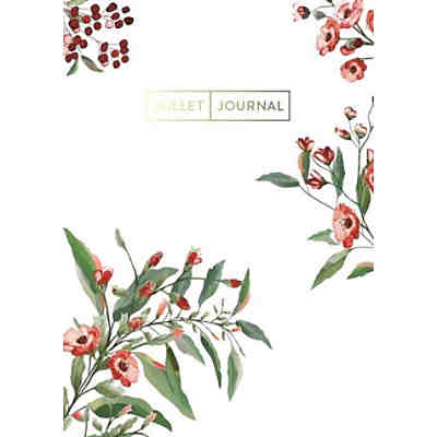 "Pocket Bullet Journal ""Red Flowers"""