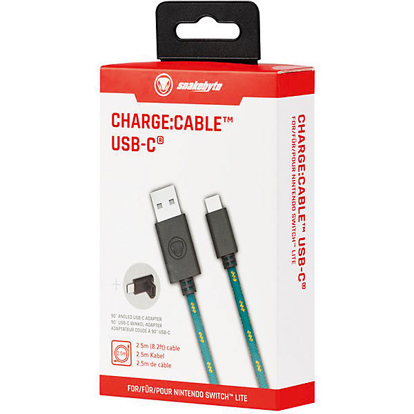 Nintendo Switch Charge Cable USB-C (2.5m + 90 Grad Winkel-Adapter)