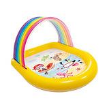 Детский бассейн Intex с аркой-радугой, с распылителем