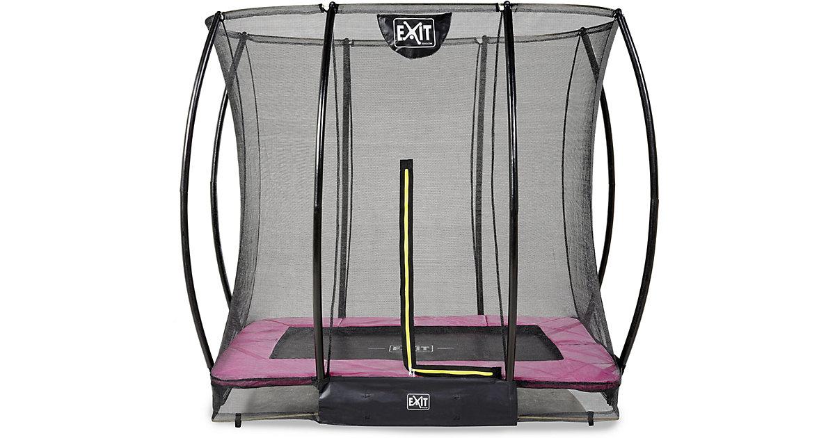 Trampolin Silhouette Ground Rechteckig 153x214 (5x7ft) + Sicherheitsnetz (Pink) rosa