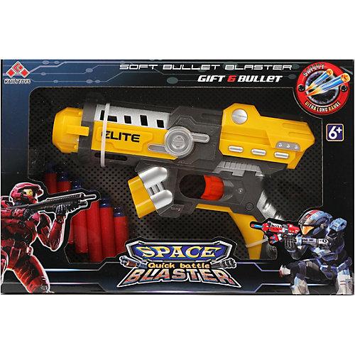 Бластер Наша Игрушка Space Blaster, с мягкими пулями от Наша Игрушка
