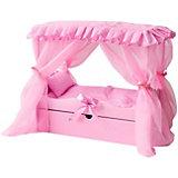 Кровать для кукол Paremo с постельным бельём