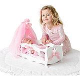 Кроватка-колыбелька для кукол Paremo с постельным бельём