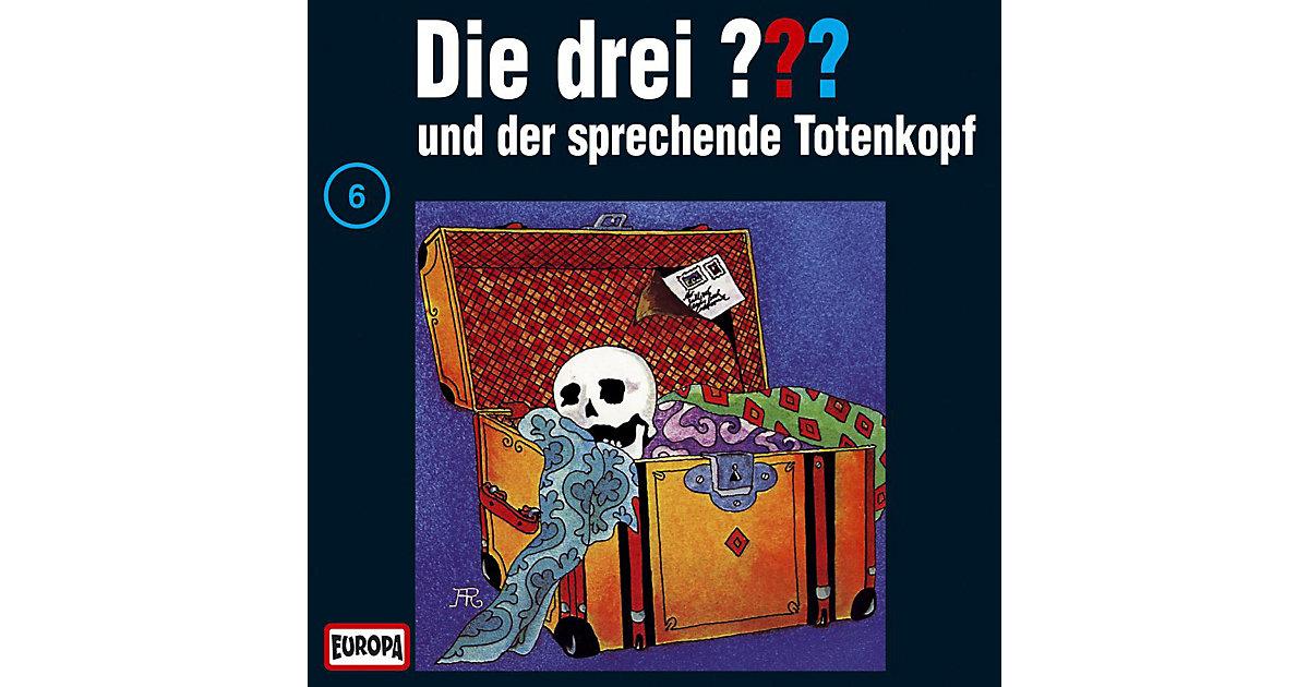 CD Die drei ??? 006 (der sprechende Totenkopf) Hörbuch
