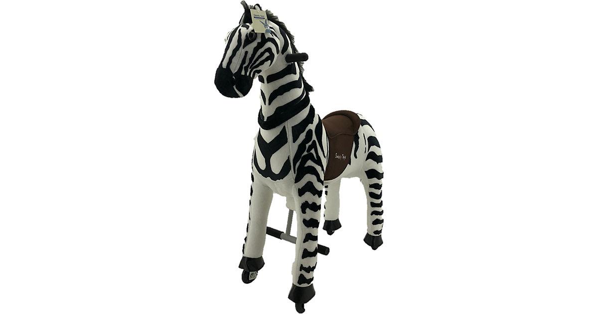 Sweety Toys 11384 Reittier Gross Zebra auf Rollen