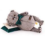 Мягкая игрушка Budi Basa Кот Басик на зеленой бархатной подушке, 18 см