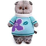 Мягкая игрушка Budi Basa Кот Басик в весеннем свитере, 19 см