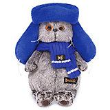 Одежда для мягкой игрушки Budi Basa Шапка ушанка синяя, 25 см