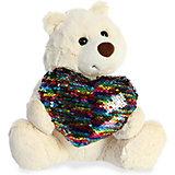 Мягкая игрушка Aurora Медведь большое сердце, 30 см