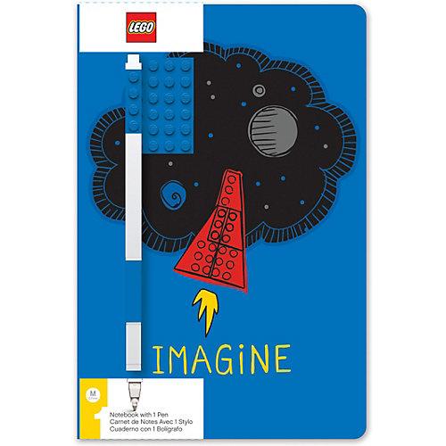 Записная книжка с ручкой LEGO Classic Imagine, 192 листа от LEGO