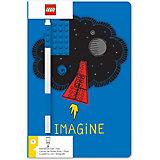 Записная книжка с ручкой LEGO Classic Imagine, 192 листа