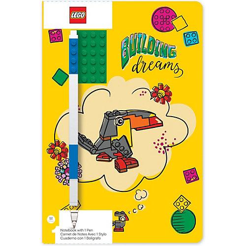 Записная книжка с ручкой LEGO Classic Building Dreams, 192 листа от LEGO