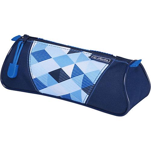 Пенал-косметичка Herlitz Triangular Blue Cubes - голубой от herlitz