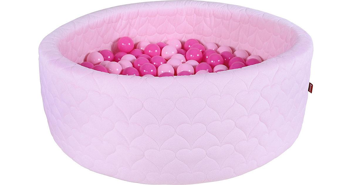 """Bällebad soft - """"Cosy heart rose"""" - 300 Bälle soft pink rosa"""