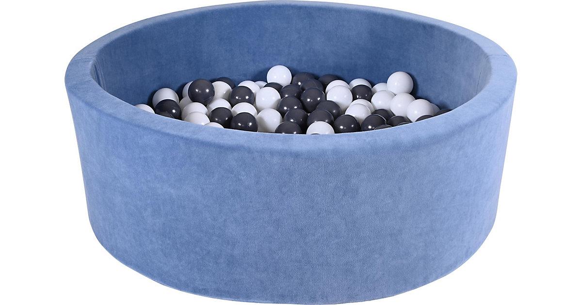 "Bällebad soft - ""Soft blue"" - 300 balls grey/creme pink"