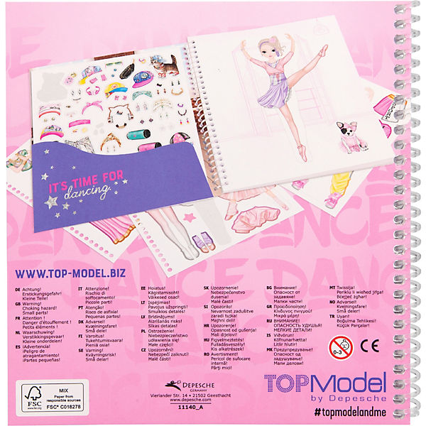 TOPModel Stickerbuch Dress Me Up DANCE