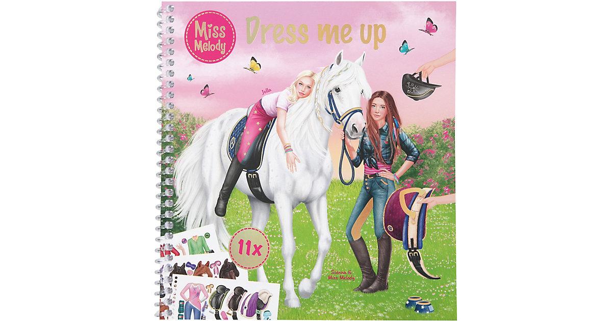 Buch - Miss Melody  Mal- und StickerbuchDress me up