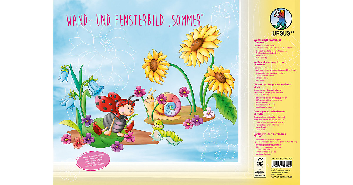 Wand- und Fensterbild Sommer