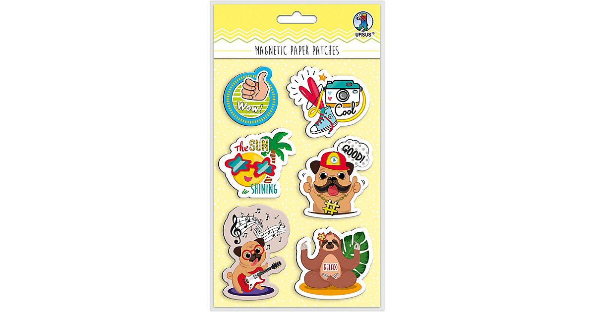 "Magnetic Paper Patches ""Funky"" Mot:02 bunt"
