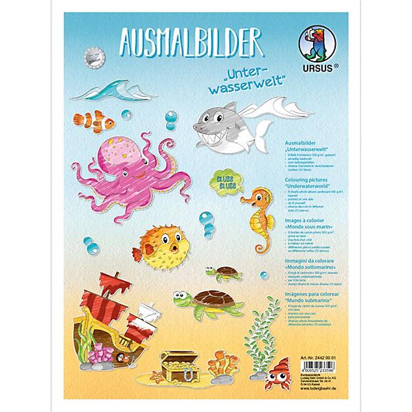 malvorlagen unterwasserwelt xxl  amorphi