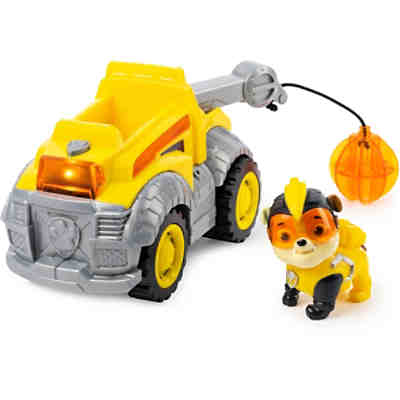 PAW Patrol Mighty Pups Super Paws Baustellenauto mit Rubble-Figur (Basic Themed Vehicle)