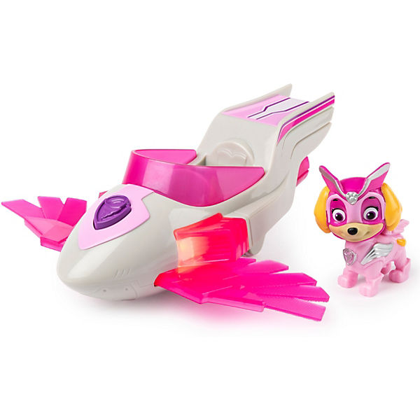 PAW Patrol Mighty Pups Super Paws Helikopter mit Skye-Figur (Basic Themed Vehicle)
