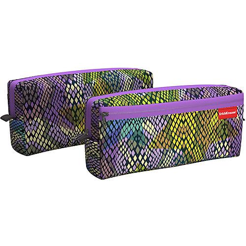 Пенал квадро Erich Krause Purple Python - сиреневый от Erich Krause