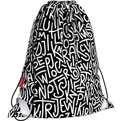Мешок для обуви Erich Krause Alphabet - черный от Erich Krause