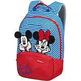Рюкзак Samsonite Disney Минни и микки полоски, размер  S+