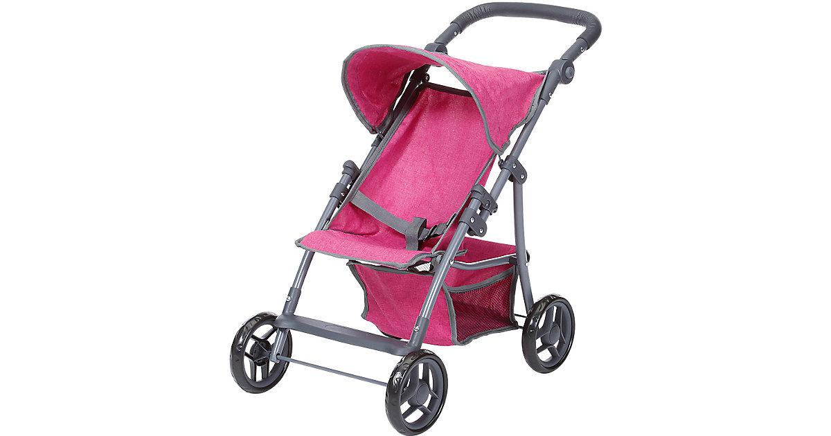 Puppenbuggy Liba - berry pink