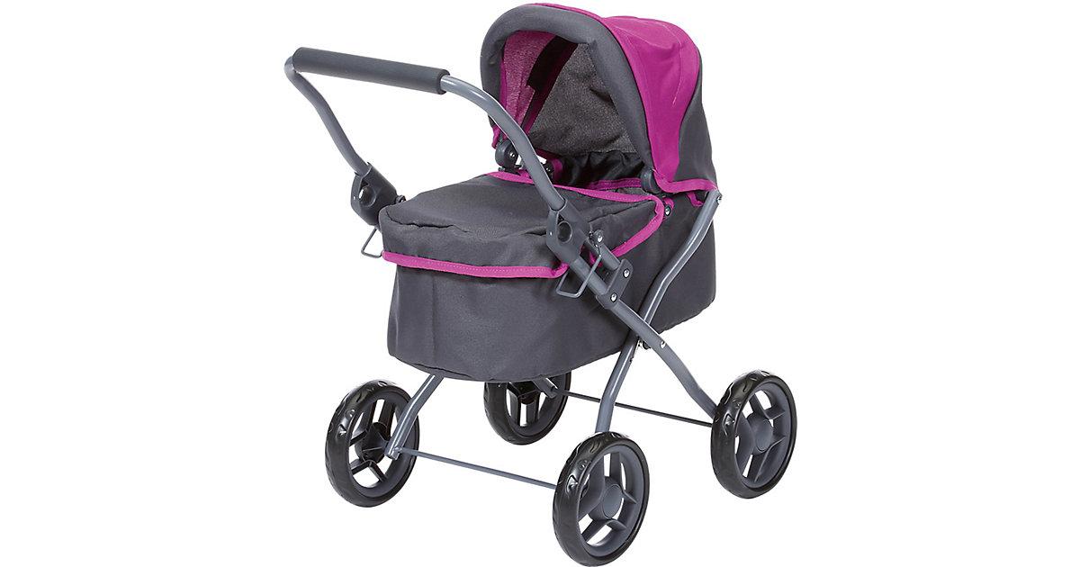 Puppenwagen Mini Lili - tec purple grau