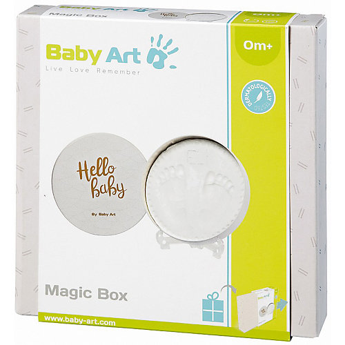 "Коробочка для отпечатка Baby Art ""Мэджик бокс"", круглая - белый от Baby Art"