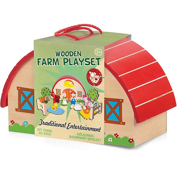 Wooden Farm Playset,