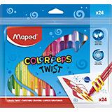 Восковые мелки Maped Color'Peps Twist, 24 цвета