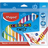 Восковые мелки Maped Color'Peps Twist, 12 цветов