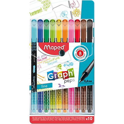 Набор капиллярных ручек Maped Graph Pep's, 10 цветов от Maped